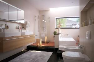 Luxus Badezimmer in Einfamilienhaus - luxury bathroom